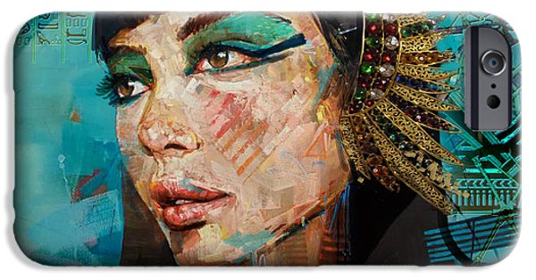 Cleopatra iPhone Cases - Egyptian Culture 25b iPhone Case by Mahnoor shah