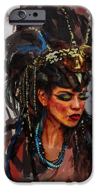 Cleopatra iPhone Cases - Egyptian Culture 26 iPhone Case by Maryam Mughal
