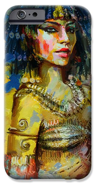 Egypt iPhone Cases - Egyptian Culture 2b iPhone Case by Maryam Mughal