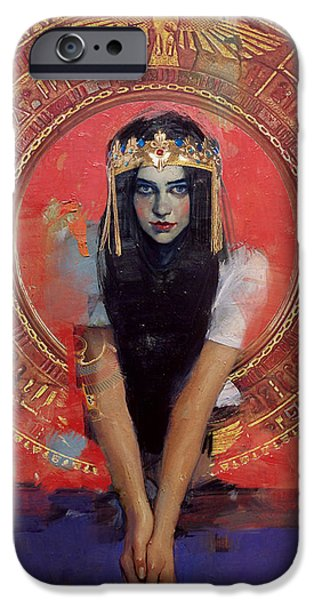 Cleopatra iPhone Cases - Egyptian Culture 32b iPhone Case by Maryam Mughal