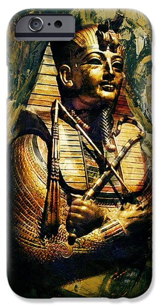 Egypt iPhone Cases - Egyptian Culture 3b iPhone Case by Maryam Mughal