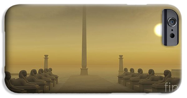 Old Digital Art iPhone Cases - Egyptian Obelisk iPhone Case by Corey Ford