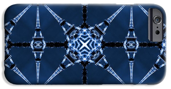Fine Art Abstract iPhone Cases - Eiffel Art 22 iPhone Case by Mike McGlothlen