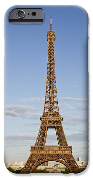 Distance iPhone Cases - Eiffel Tower iPhone Case by Melanie Viola