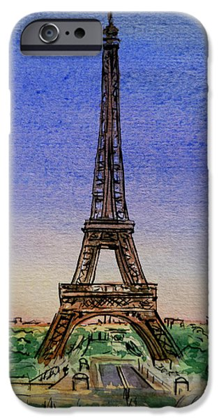 Paris iPhone Cases - Eiffel Tower Paris France iPhone Case by Irina Sztukowski