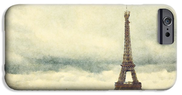 Hand-watercolored iPhone Cases - Eiffel Tower Watercolour iPhone Case by Jane Rix