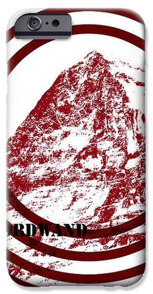Eiger Nordwand iPhone Case by Frank Tschakert