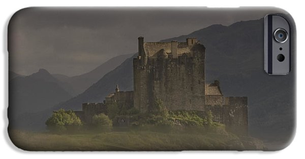 Mist iPhone Cases - _eilean_ Donan_through_the_mist iPhone Case by Clive Beake