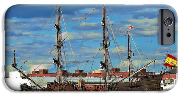 Town iPhone Cases - El Galeon Andalucia iPhone Case by Marcia Lee Jones
