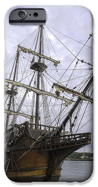 Pirate Ships iPhone Cases - El Galleon San Pelayo iPhone Case by Jamie Anderson
