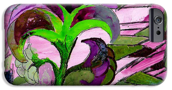 Plant iPhone Cases - El Peurple Vertigre iPhone Case by Genevieve Esson
