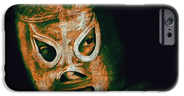 Wing Chee Tong iPhone Cases - El Santo The Masked Wrestler 20130218 iPhone Case by Wingsdomain Art and Photography