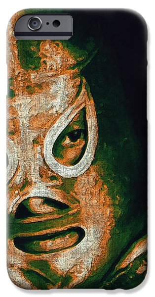 El Santo The Masked Wrestler 20130218 iPhone Case by Wingsdomain Art and Photography