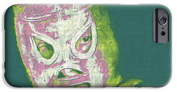 Wwf iPhone Cases - El Santo The Masked Wrestler 20130218v2m80 iPhone Case by Wingsdomain Art and Photography