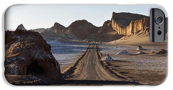 Valley Of The Moon iPhone Cases - El Valle De La Luna  Valley Of The Moon iPhone Case by Keith Levit