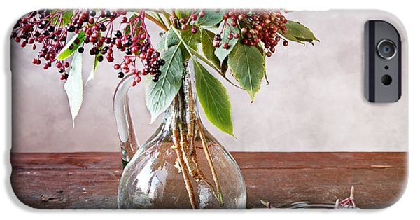 Shiny iPhone Cases - Elderberries 07 iPhone Case by Nailia Schwarz