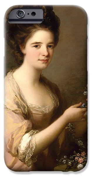 Countess iPhone Cases - Eleanor - Countess Of Lauderdale iPhone Case by Angelica Kauffmann