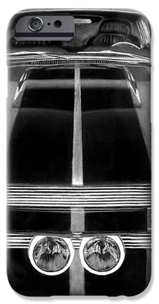 Eleanor Ford Mustang iPhone Case by Peter Piatt