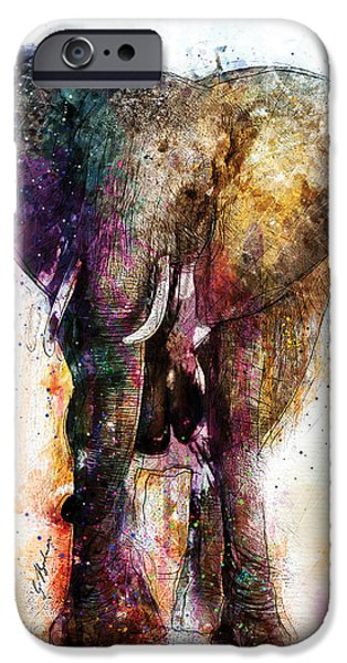 Elephant iPhone Cases - Eleanor iPhone Case by Gary Bodnar