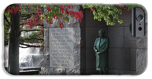First Lady iPhone Cases - Eleanors Alcove at the FDR Memorial in Washington DC iPhone Case by William Kuta