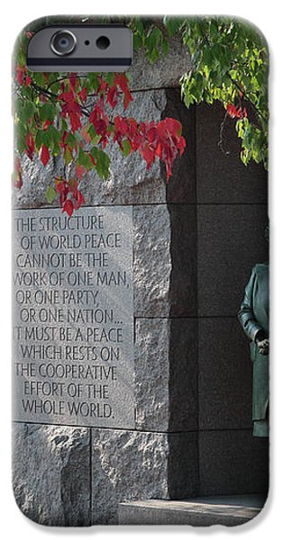 Eleanor's Alcove at the FDR Memorial in Washington DC iPhone Case by William Kuta