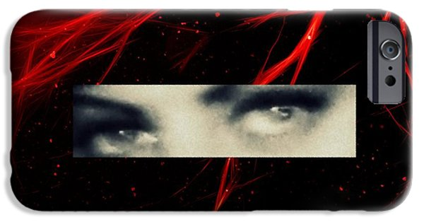Seductive iPhone Cases - Electric eyes iPhone Case by Frances Lewis