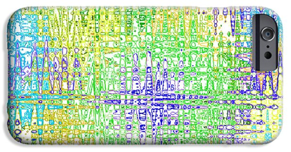 Abstract Digital Tapestries - Textiles iPhone Cases - Electric Green Multi iPhone Case by FabricWorks Studio