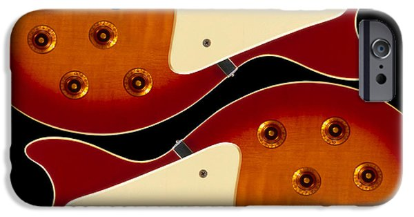 Strings Digital iPhone Cases - Electric Guitar II iPhone Case by Mike McGlothlen