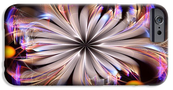 Floral Digital Art Digital Art iPhone Cases - Electric Life iPhone Case by Jane Spaulding