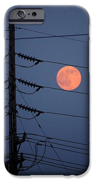 Electrical iPhone Cases - Electric Moon iPhone Case by Richard Reeve