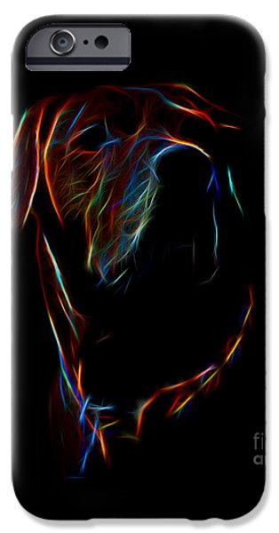 Electrical iPhone Cases - Electric Ridgeback iPhone Case by Mim White