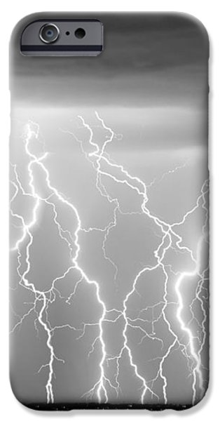 Electric Skies in Black and White iPhone Case by James BO  Insogna