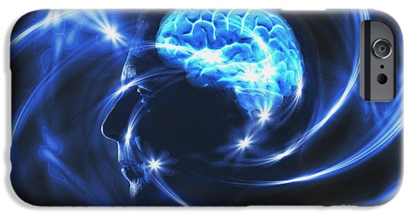 Electrical iPhone Cases - Electrical Brain iPhone Case by George Mattei