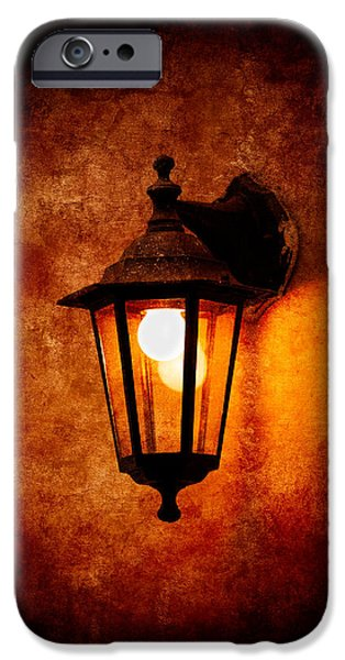 Night Lamp iPhone Cases - Electrical Light iPhone Case by Alexander Senin