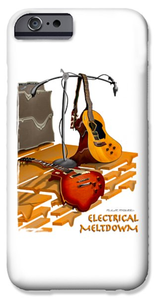 Shirt Digital iPhone Cases - Electrical Meltdown SE iPhone Case by Mike McGlothlen