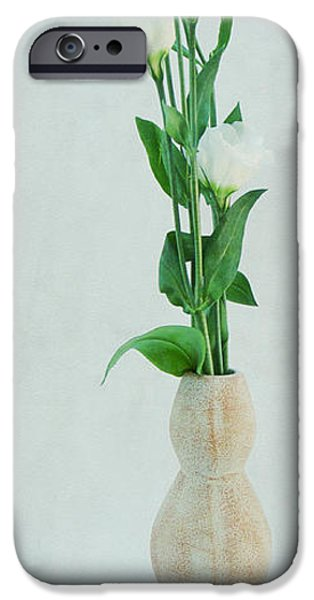 Flora Mixed Media iPhone Cases - Elegant iPhone Case by Angela Doelling AD DESIGN Photo and PhotoArt