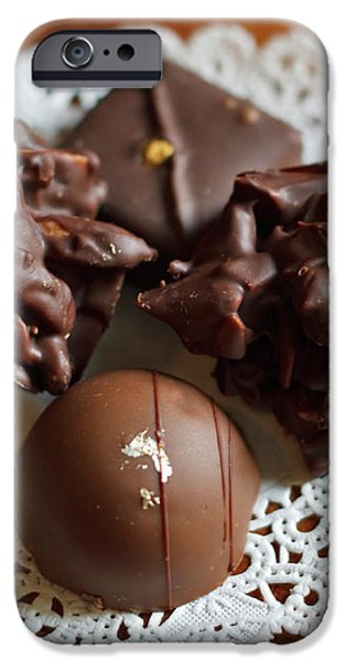 Elegant Chocolate Truffles iPhone Case by Louise Heusinkveld