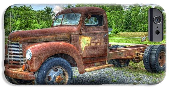 Agricultural iPhone Cases - Elegant Rust 1947 International Harvester K B 5 Truck iPhone Case by Reid Callaway
