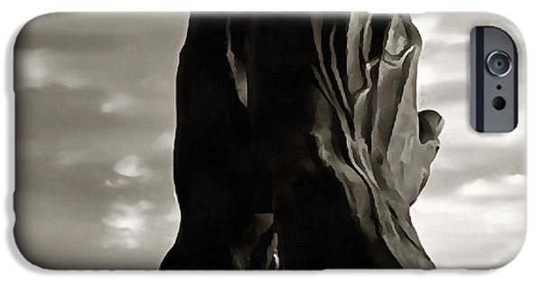 Abstract Digital Paintings iPhone Cases - Element Hope iPhone Case by Sir Josef  Putsche Social Critic