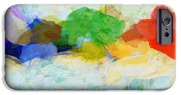 Abstract Paintings iPhone Cases - Elements - Painting iPhone Case by Sir Josef  Putsche