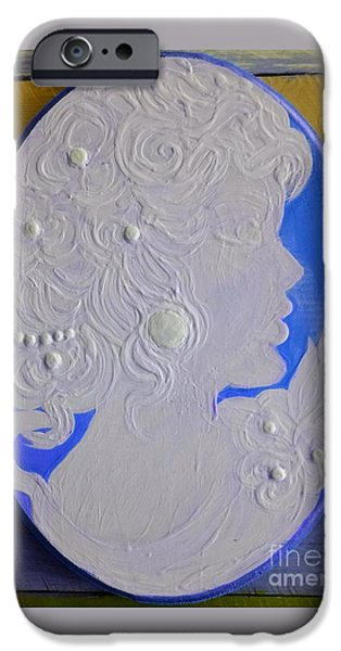 Vintage Jewelry iPhone Cases - Elenore iPhone Case by Jennifer Russell