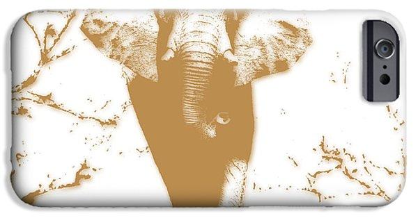 Elephants iPhone Cases - Elephant 2 iPhone Case by Joe Hamilton