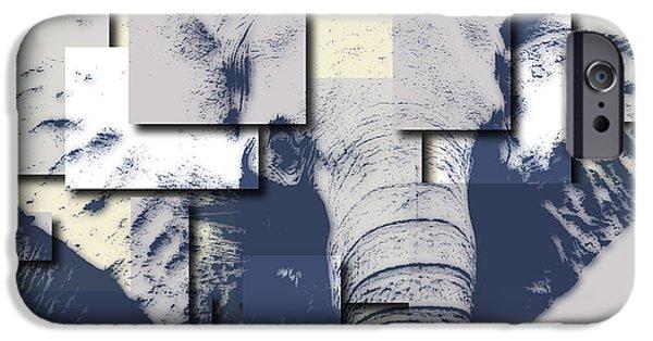 Elephants iPhone Cases - Elephant 5 iPhone Case by Joe Hamilton