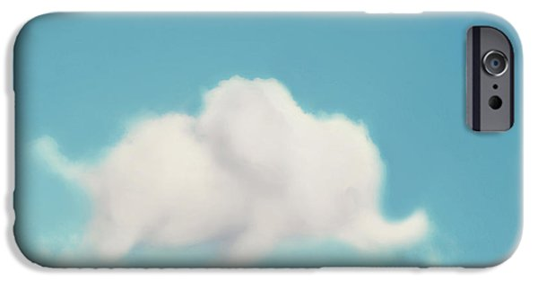 Pillow iPhone Cases - Elephant in the Sky iPhone Case by Amy Tyler
