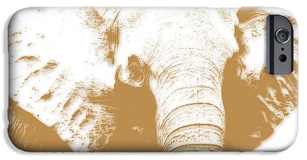 Elephants iPhone Cases - Elephant iPhone Case by Joe Hamilton
