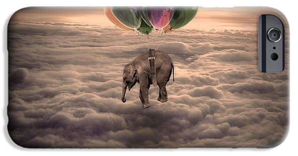 Elephants iPhone Cases - Elephant s dream iPhone Case by Hans Wolfgang Muller Leg