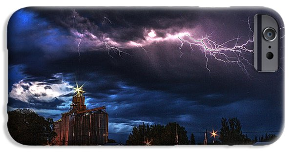 Old Barns iPhone Cases - Elevator Lightning iPhone Case by David Matthews