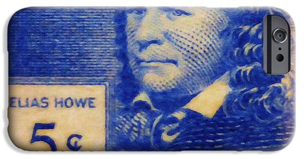 Jt History iPhone Cases - Elias Howe iPhone Case by Lanjee Chee