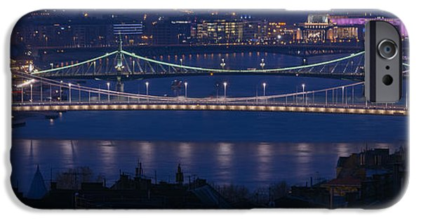 Built Structure iPhone Cases - Elizabeth and Liberty Bridges Budapest iPhone Case by Joan Carroll