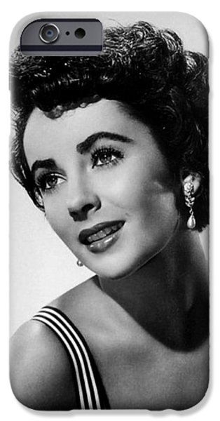 1950s Portraits iPhone Cases - Elizabeth Taylor 1950 iPhone Case by Mountain Dreams